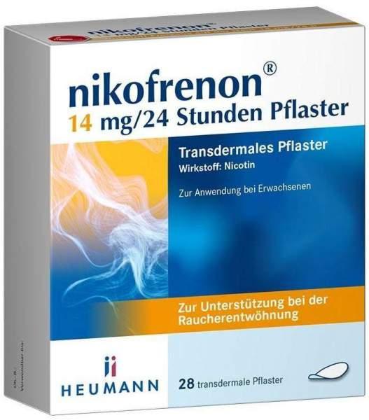 Nikofrenon 14 mg je 24 Stunden transdermale Pflaster 28 Stück
