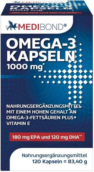 Omega 3 Kapseln 1000 mg Medibond 120 Kapseln