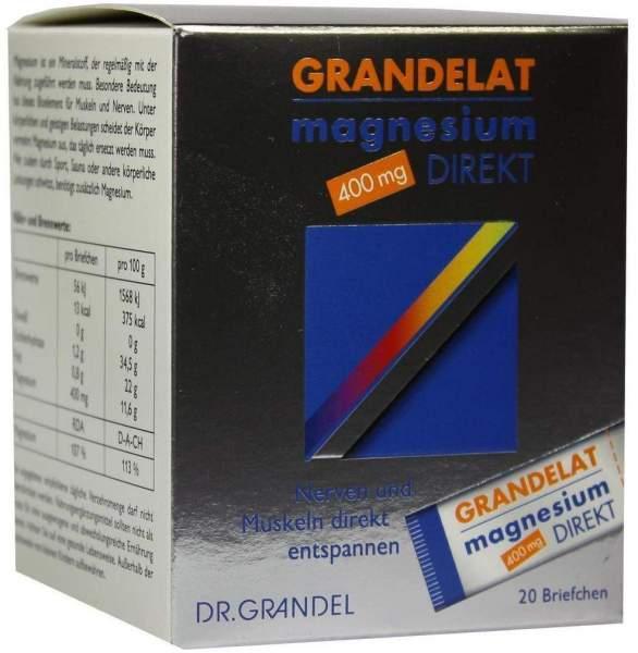 Magnesium Direkt 400 mg Grandelat Pulver 20 Briefchen