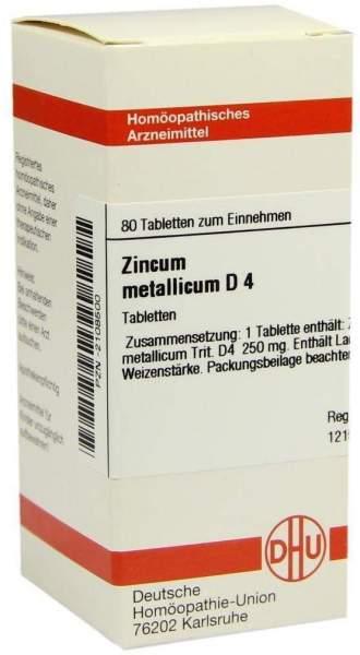 Zincum Metallicum D4 Dhu 80 Tabletten