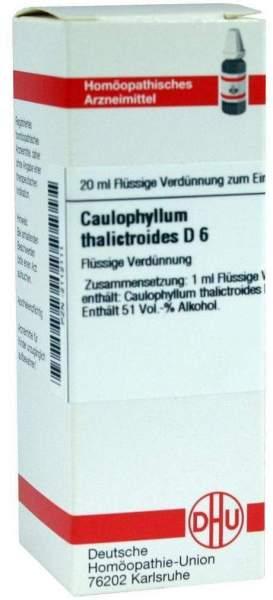 Caulophyllum Thalictroides D 6 Dilution
