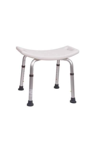 Duschbank aus Aluminium, mit ergonomischer Sitzfläche