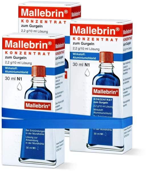 Mallebrin Konzentrat zum Gurgeln 3 x 30 ml Lösung