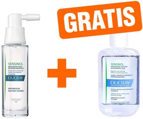 Ducray sensinol Serum 30 ml Spray + gratis Sensinol Shampoo irritierte Kopfhaut 30 ml