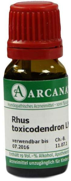 Rhus Toxicodendron Lm 18 Dilution 10 ml