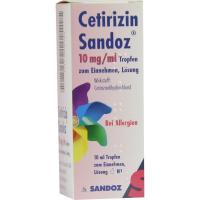 Cetirizin Sandoz 10 mg pro ml Tropfen zum Einnehmen 10 ml Tropfen