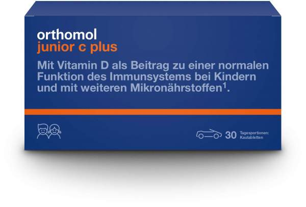 Orthomol Junior C plus 30 Kautabletten Mandarine Orange