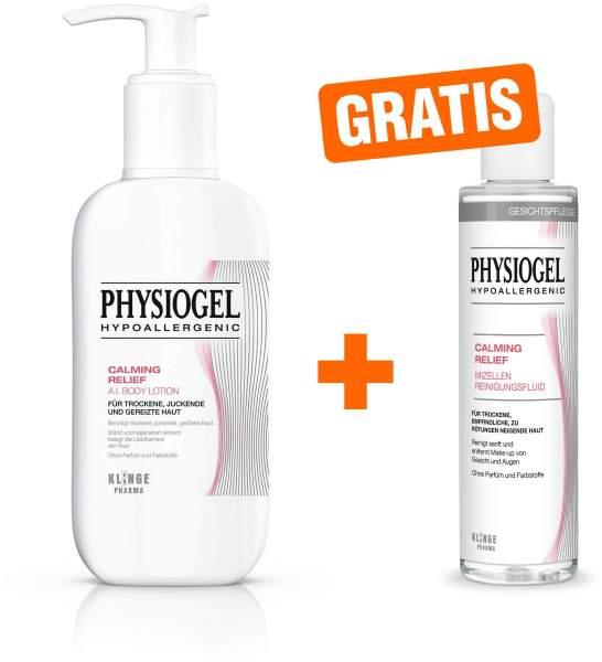 Physiogel Calming Relief A.I. Body Lotion 400 ml + gratis Calming Relief Mizellen Reinigungsfluid 200 ml