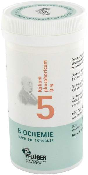 Biochemie Pflüger 5 Kalium phosphoricum D6 400 Tabletten