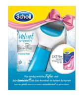 Scholl Velvet Smooth 1 Express Pedi Diamond blau plus gratis Gel Activ Einlegesohle High Heels
