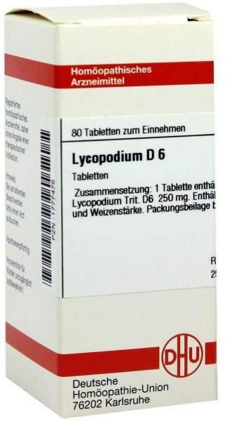 Lycopodium D 6 80 Tabletten