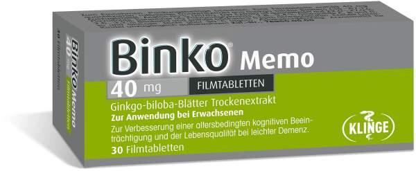 Binko Memo 40 mg 30 Filmtabletten