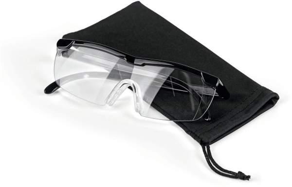 Vergrößerungsbrille, schwarz, inklusive Aufbewahrungsbeutel