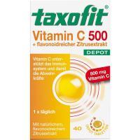 Taxofit Vitamin C 500 + flavonoidreicher Zitrusextrakt Depot 40 Tabletten