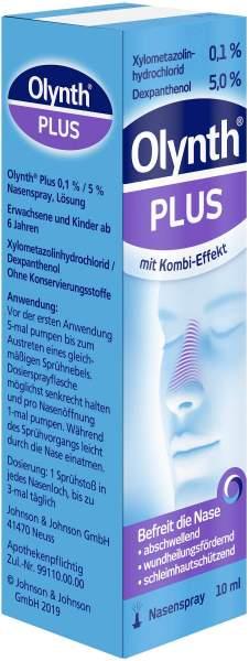Olynth Plus 0,1 % und 5 % für Erwachsene Nasenspray o.K. 10 ml