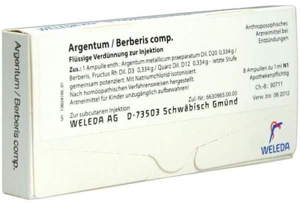 Weleda Argentum Berberis Comp 8 Ampullen