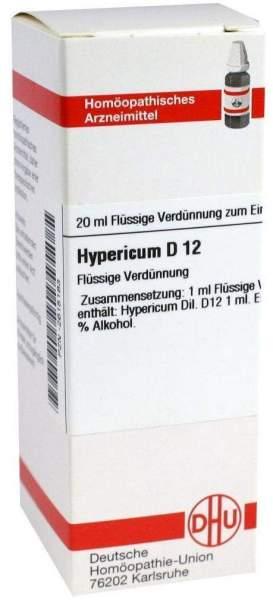 Hypericum D 12 20 ml Dilution