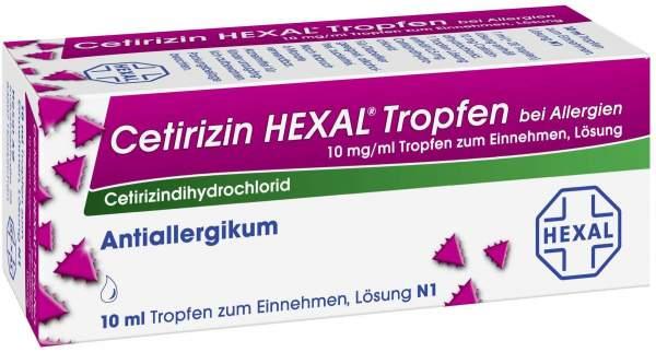 Cetirizin Hexal Tropfen bei Allergien 10 ml
