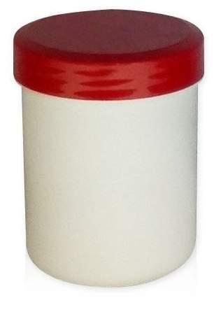 Kruke Mit Deckel, Weiß, Kunststoff 500 G
