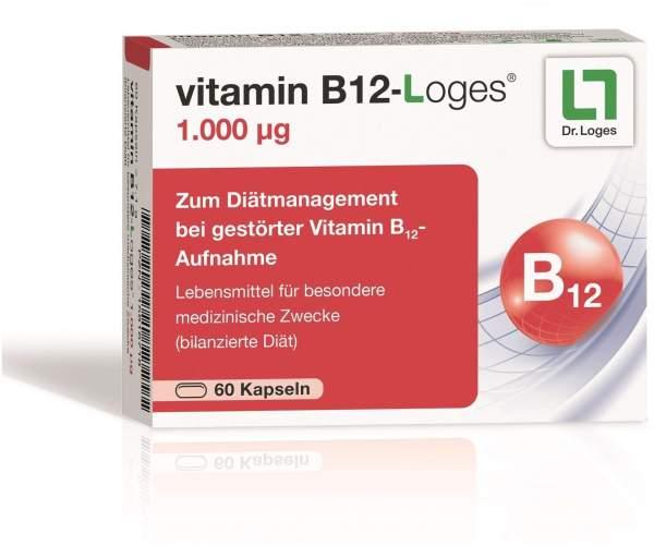 Vitamin B12-Loges 1.000 µg 60 Kapseln