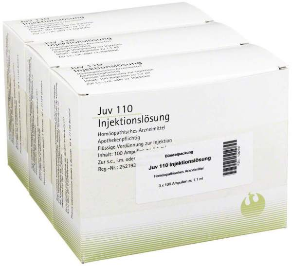 Juv 110 Injektionslösung 1,1 ml 3 X 100 Ampullen