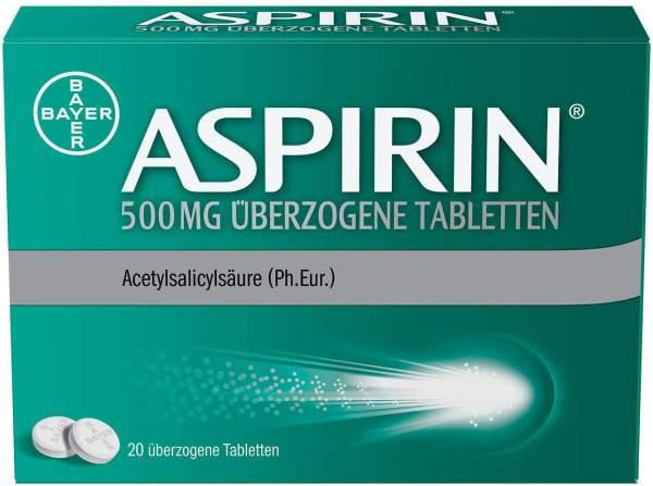 Aspirin 500 mg 20 überzogene Tabletten