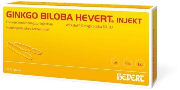 Ginkgo Biloba Hevert Injekt 10 Ampullen