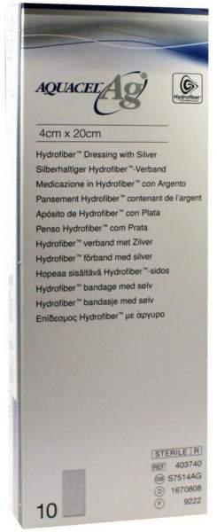 Aquacel AG 4x20cm Hydrofiberverband Mit Silber
