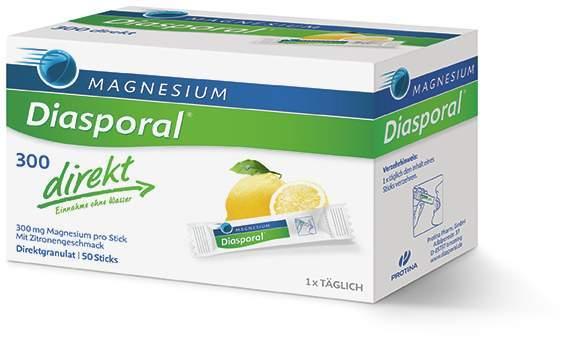 Magnesium Diasporal 300 direkt 50 Sticks Granulat