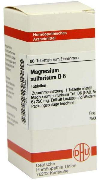 Magnesium Sulfuricum D6 80 Tabletten