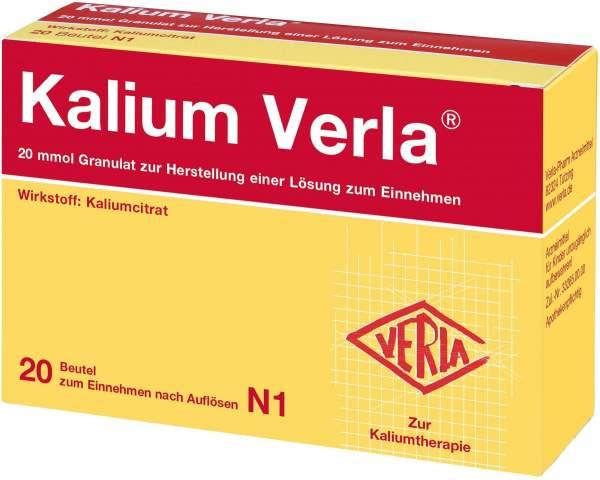 Kalium Verla Granulat 20 Beutel