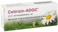 Cetirizin-ADGC Antiallergikum 20 Filmtabletten