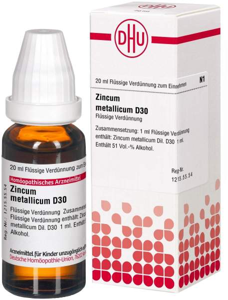 Zincum Metallicum D30 Dilution 20 ml Dilution