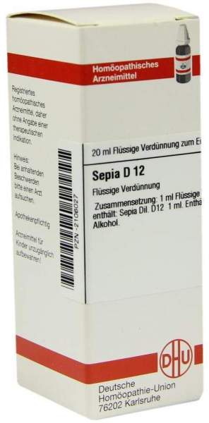 Sepia D12 Dilution 20 ml Dilution