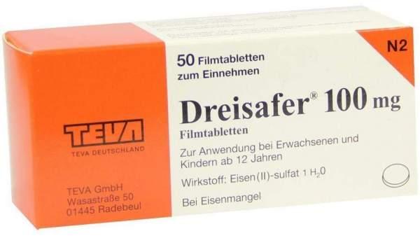 Dreisafer 100 mg 50 Filmtabletten