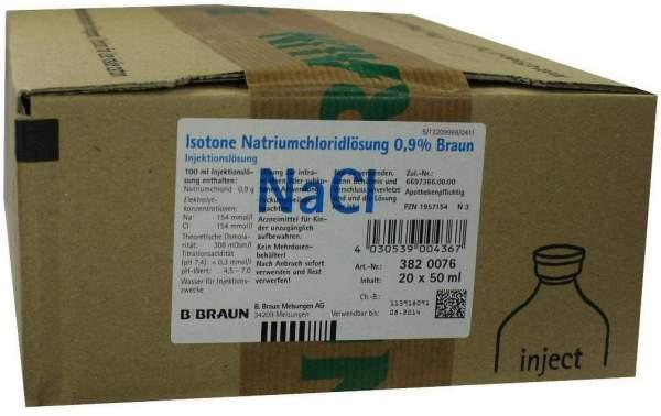 Kochsalzlösung Isotone Natriumchloridlösung 0,9% 20 X 50 Ml...