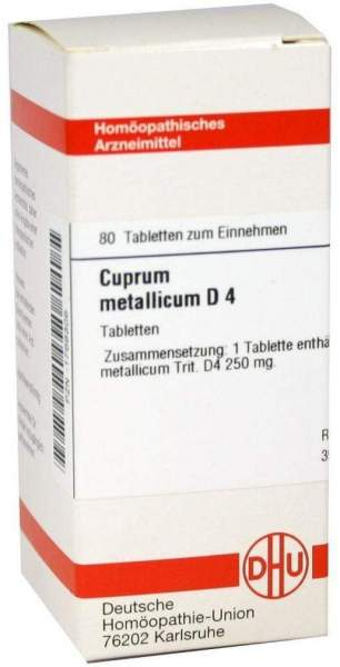 Cuprum Metallicum D 4 80 Tabletten