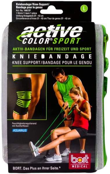 Bort Activecolor Sport Kniebandage L Schwarz Grün 1 Stück