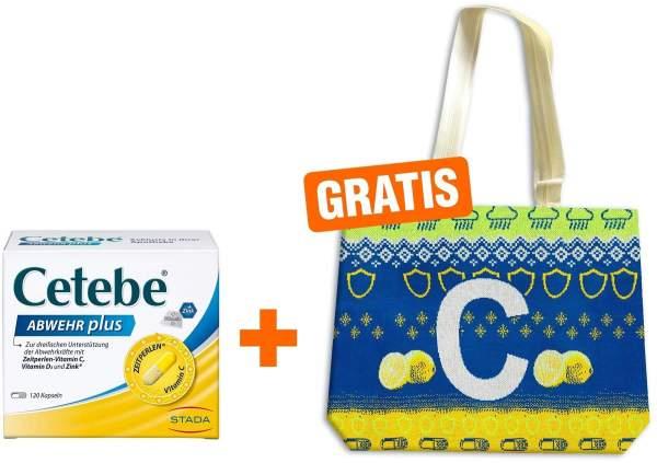Cetebe Abwehr plus Vitamin C + Vitamin D3 + Zink Kapseln + gratis Tasche