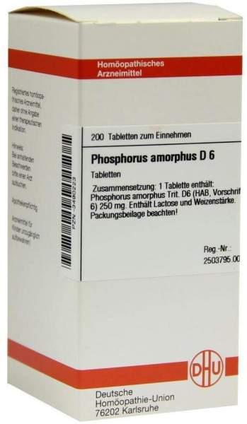 Phosphorus Amorphus D6 200 Tabletten