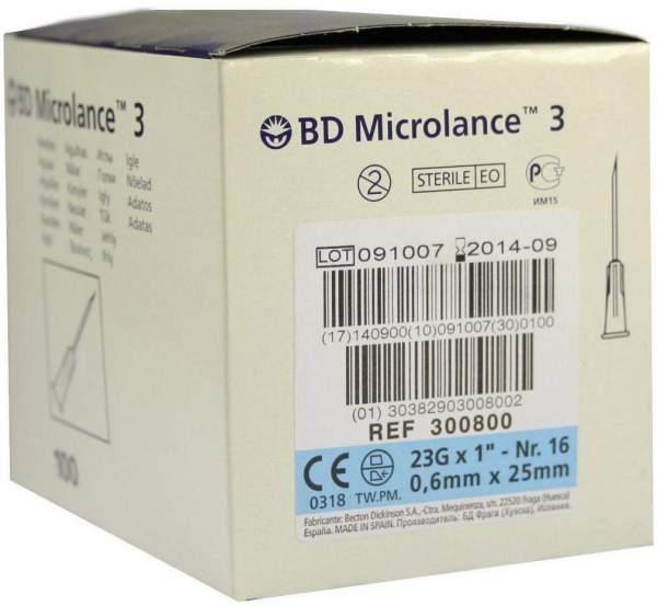 Bd Microlance Kanüle 23 G 1 Nr. 16 0,6 X 25 mm