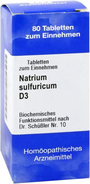 Biochemie 10 Natrium Sulfuricum D3 Tabletten 200 Tabletten