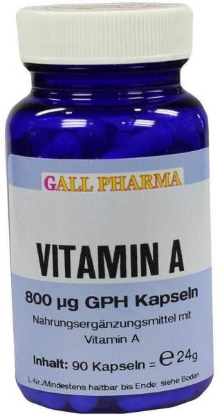 Vitamin A 800 µg Gph 90 Kapseln