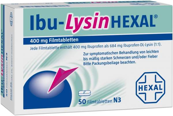 Ibu-Lysin Hexal 400 mg 50 Filmtabletten