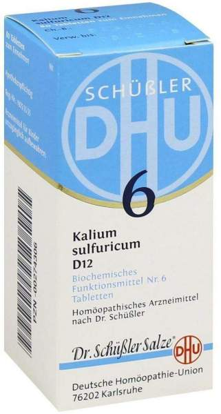 Biochemie Dhu 6 Kalium Sulfuricum D12 Tabletten 80 Tabletten