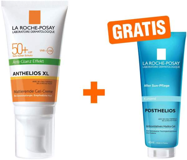 La Roche Posay Anthelios Gel-Creme 50+ 50 ml Creme + gratis Posthelios 40 ml Mini