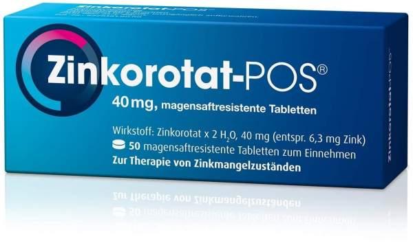 Zinkorotat POS 50 magensaftresistente Tabletten