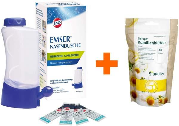 Emser Nasendusche mit 4 Beutel Nasenspülsalz + Sidroga Kamillenblüten loser Arzneitee 30 g