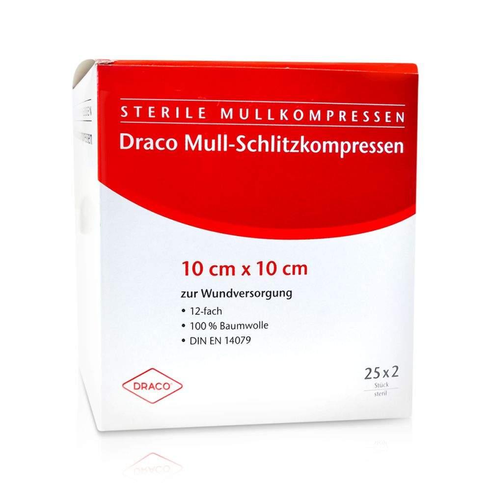 Schlitzkompressen Mull 10x10cm 12fach Steril