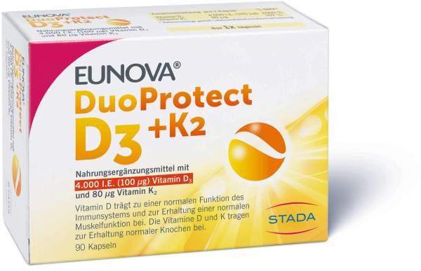 Eunova DuoProtect D3 + K2 4000 I.E. 90 Kapseln